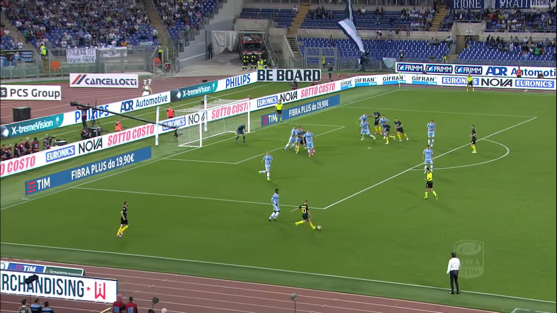 Candreva cross, Lazio-Inter 1-3, 2017